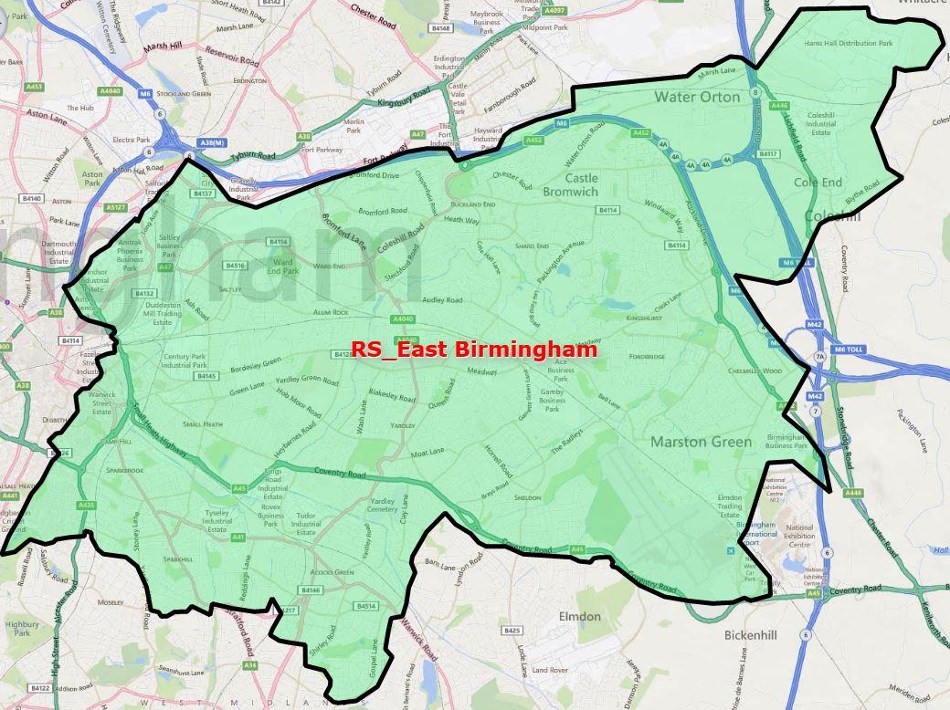 ServiceMaster Clean East Birmingham map